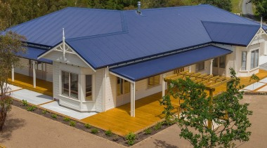 Envira weatherboard classic home. cottage, elevation, estate, facade, home, house, property, real estate, residential area, roof, brown