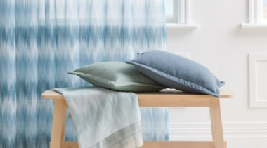 Serene and timeless, COAST combines a stylish ombre chair, floor, furniture, table, white, gray