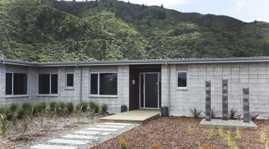 For more information, please visit www.gjgardner.co.nz cottage, facade, home, house, landscape, property, real estate, gray, black
