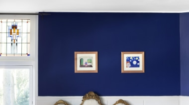 Brand van Egmond - Sterrendaalers blue, ceiling, home, interior design, lampshade, light fixture, lighting, lighting accessory, living room, room, table, wall, white