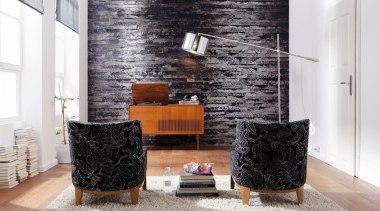 Birkenrinde Interieur floor, furniture, home, interior design, living room, table, wall, white