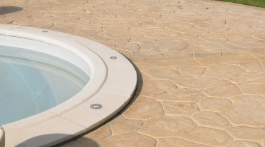 Exterior and Outdoor Lights flagstone, floor, outdoor structure, road surface, orange, brown