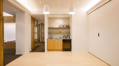 Our clients required a high quality fitout providing ceiling, floor, flooring, interior design, real estate, room, white, orange