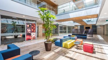 The atrium apartment, architecture, daylighting, house, interior design, lobby, real estate, white