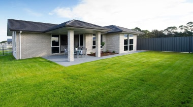 For more information, please visit www.gjgardner.co.nz architecture, backyard, cottage, estate, facade, farmhouse, grass, home, house, land lot, landscape, lawn, property, real estate, residential area, siding, sky, suburb, window, yard, green, white