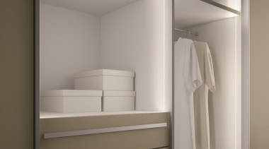 Developed in Italy to meet Australian/NZ standards. Developed cabinetry, chest of drawers, closet, cupboard, drawer, furniture, product, room, wardrobe, gray