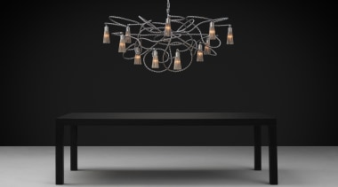 Brand vanEgmond - Sultans of Swing coffee table, furniture, lamp, light fixture, lighting, lighting accessory, product design, table, black