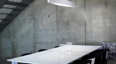 Pendant Light architecture, ceiling, chair, daylighting, floor, furniture, interior design, light fixture, lighting, product design, table, wall, gray, black