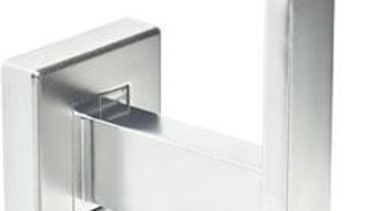 Concealed fixing. Fixings supplied.Adapter for flat profile mouldings angle, hardware, hardware accessory, product design, white