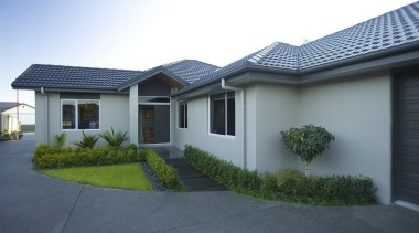 For more information, please visit www.gjgardner.co.nz elevation, estate, facade, home, house, neighbourhood, property, real estate, residential area, roof, siding, suburb, window, yard, gray