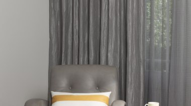 Harrisons Curtains chair, couch, curtain, floor, furniture, home, interior design, living room, table, textile, wall, window, window covering, window treatment, gray