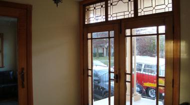 100 year old walnut double doors with bevelled door, glass, interior design, real estate, window, window covering, brown