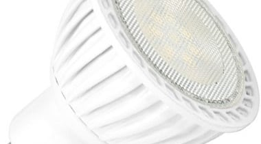 Features	7W AOT SMD LED	Luminous Flux: 500 lm	CRI ˃ lighting, product, product design, white