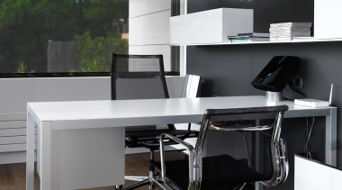 Adagio from Grok, Spain desk, floor, furniture, interior design, office, office chair, product design, table, black
