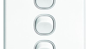 Slimline Series triple switch White light switch, product, white