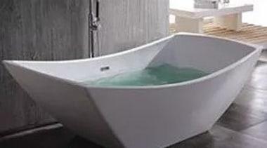 Tulipan bathroom sink, bathtub, plumbing fixture, product design, tap, gray, black