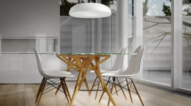 Pendant Light architecture, ceiling, chair, dining room, floor, flooring, furniture, interior design, light fixture, product design, table, wood, wood flooring, gray