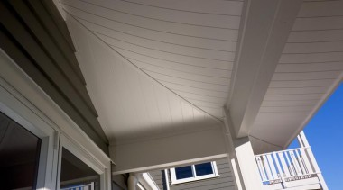 HardieGroove Soffit Lining architecture, ceiling, daylighting, facade, house, line, roof, shade, siding, sky, structure, window, gray
