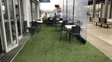 Commercial landscape floor, flooring, grass, lawn, plant, brown, gray