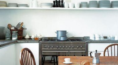 Smeg appliances in a traditional style kitchen.**Please note countertop, flooring, furniture, home, interior design, kitchen, room, table, wall, white