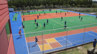 Pre-school, primary & seconday education ball game, competition event, grass, leisure, sport venue, sports, structure, tennis court
