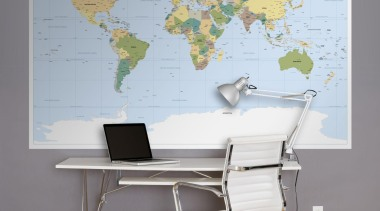 Worldmap Interieur desk, furniture, office, office chair, product design, table, wall, gray