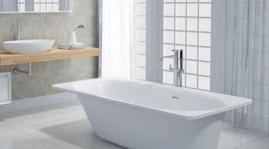 California bathroom, bathroom accessory, bathroom sink, bathtub, ceramic, plumbing fixture, product, product design, tap, toilet seat, gray