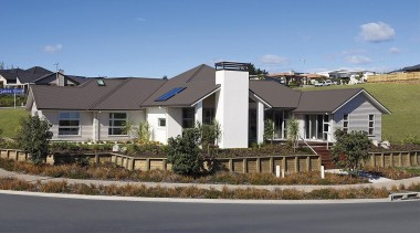 For more information, please visit www.gjgardner.co.nz building, cottage, elevation, estate, facade, home, house, neighbourhood, property, real estate, residential area, roof, siding, sky, suburb, teal, gray