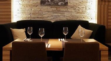 Pendant Light chair, dining room, flooring, furniture, interior design, light fixture, room, table, wall, brown, black