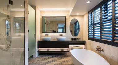 Finalist: 2017 TIDA International Bathroom of the YearSee bathroom, interior design, room, gray