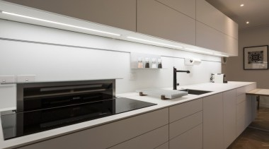 Highly Commended in the Category Imported Kitchen cabinetry, countertop, cuisine classique, home appliance, interior design, kitchen, kitchen stove, product design, gray