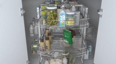 Giamo Magic Lazy Susan Unit For Corner Cabinets kitchen organizer, shelf, shelving, gray