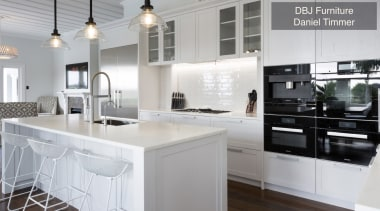 Highly Commended – DBJ Furniture, Daniel Timmer – cabinetry, countertop, cuisine classique, interior design, kitchen, real estate, room, white, gray
