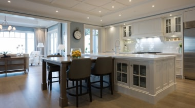Living area cabinetry, countertop, cuisine classique, floor, flooring, interior design, kitchen, real estate, room, gray
