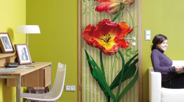 Swing Interieur floristry, flower, home, interior design, modern art, room, table, wall, yellow, yellow