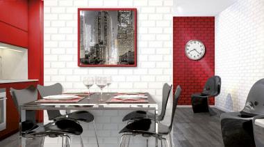 Italian Color Range ceiling, chair, dining room, floor, flooring, furniture, interior design, living room, room, table, tile, wall, white, gray