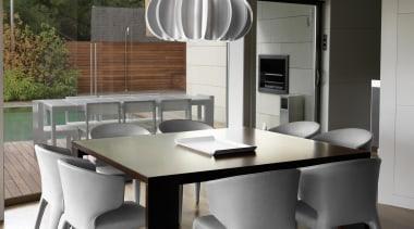 Pendant Light chair, dining room, floor, furniture, interior design, kitchen, product design, table, gray, black