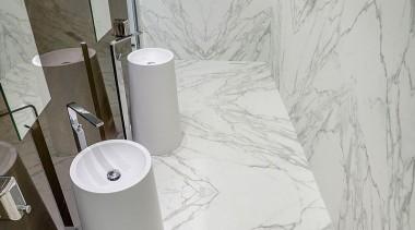 Neolith Calcatta bathroom, ceramic, floor, plumbing fixture, product design, tap, tile, toilet seat, wall, gray