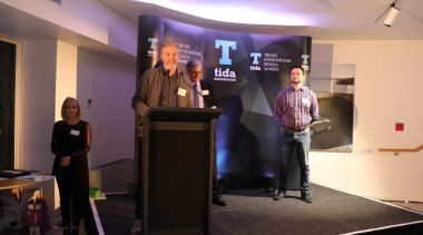 TIDA Bathrooms NZ 2017 - Event communication, electronic device, institution, technology, black