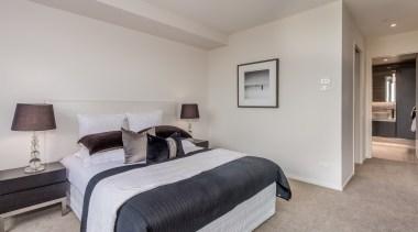 Master bedroom with ensuite bed frame, bedroom, ceiling, estate, floor, flooring, home, interior design, property, real estate, room, wall, gray