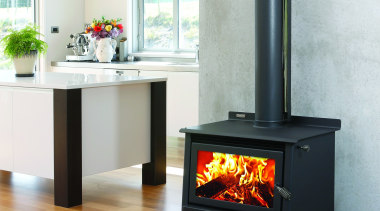 Metro Fires Xtreme Rad Woody 20kW Wood Fire fireplace, hearth, heat, home appliance, wood burning stove, white