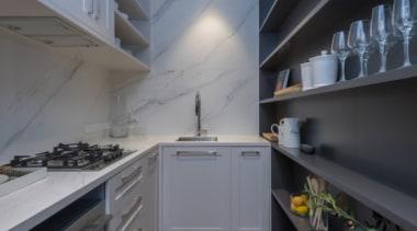 New Albany Show Home countertop, interior design, kitchen, property, room, gray, black