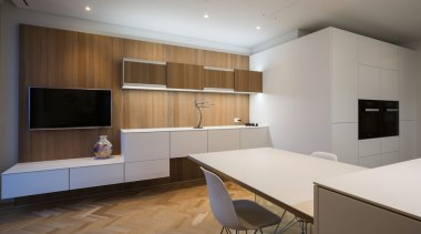 Highly Commended in the Category Imported Kitchen architecture, cabinetry, ceiling, floor, flooring, interior design, kitchen, real estate, room, wood flooring, gray