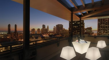 Exterior and Outdoor Lights apartment, architecture, city, condominium, downtown, home, penthouse apartment, real estate, roof, sky, black