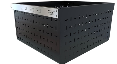 Tanova Ventilated Drawer in Custom Colour Black - plastic, product, product design, black, white
