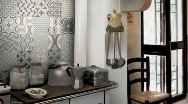 Mix Cementine 200x200 countertop, furniture, interior design, wall, gray, black