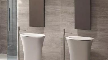 Karim bathroom, bidet, ceramic, floor, plumbing fixture, product design, sink, tap, toilet, gray