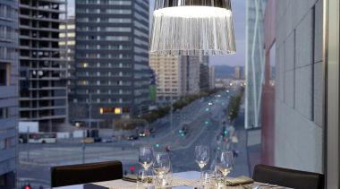 Pendant Light apartment, architecture, building, condominium, glass, interior design, table, window, black