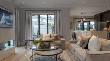 New Albany Show Home home, interior design, living room, property, real estate, room, window, gray