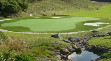 Sport golf club, golf course, grass, grassland, landscape, water resources, brown, green